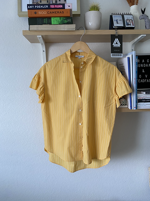 Madewell Yellow Pinstripe Top
