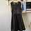 Thumbnail: Black Polka dot dress, nude lined