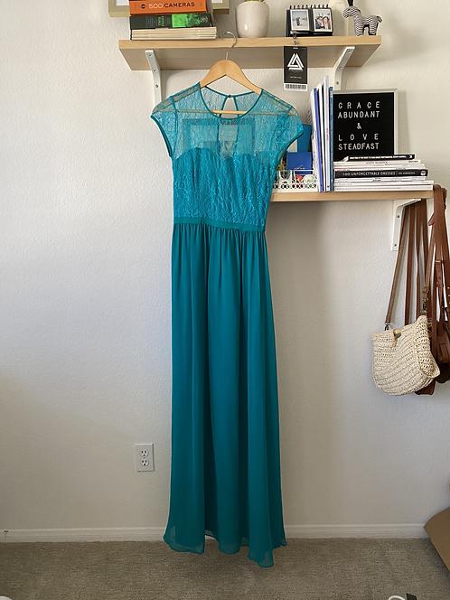 Sea Green/Teal Long Dress