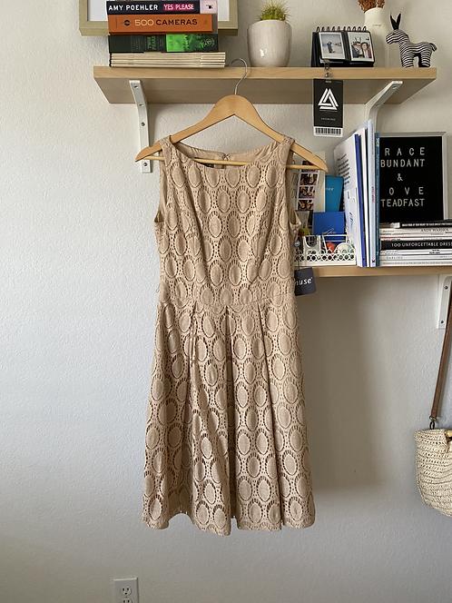 Modcloth Vintage Style Beige Dress