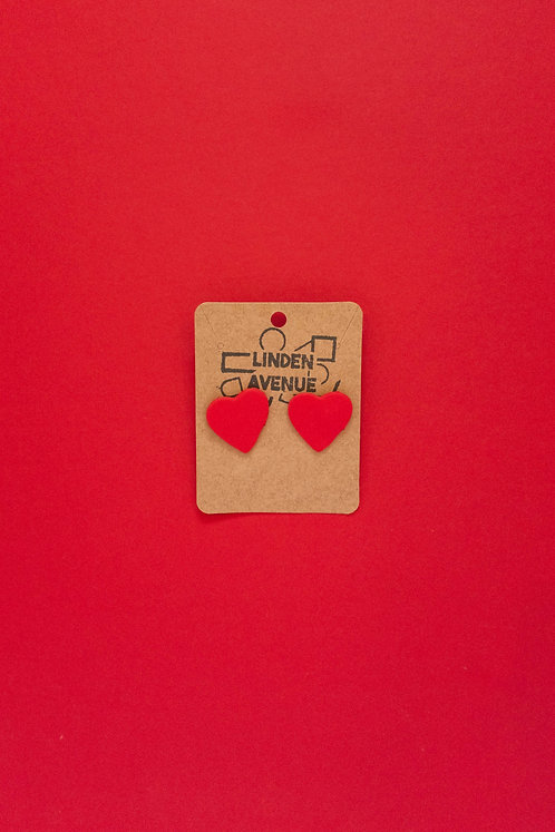 Large Heart Studs
