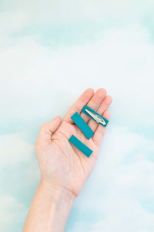 Tiny Clip in Teal