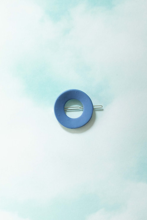 The Circle Barrette in Periwinkle