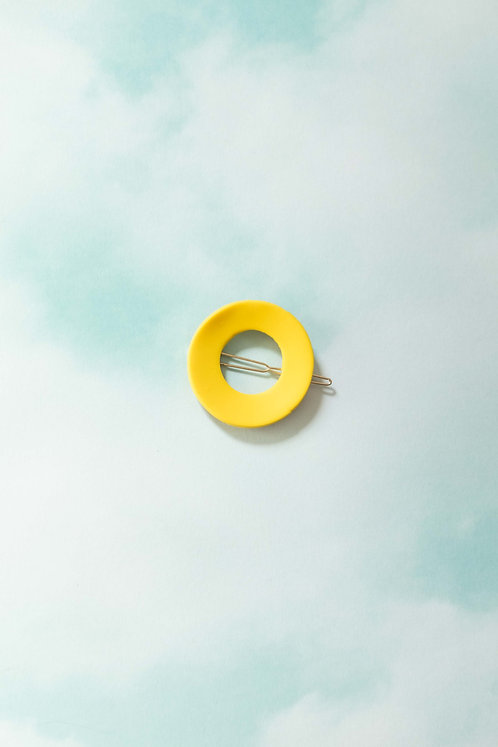 The Circle Barrette in Canary
