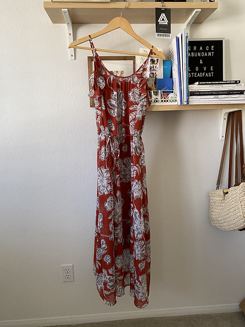 WhoWhatWear Red Floral Dress