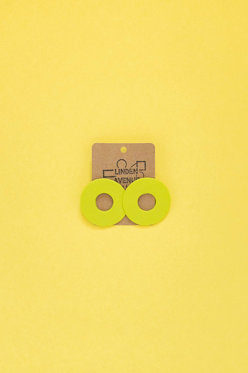 The Cynthia Studs in Lime