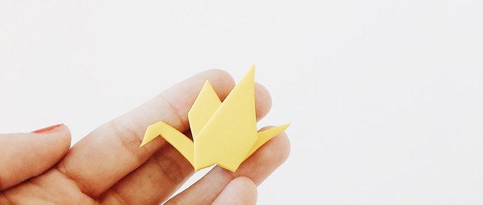 Origami Crane Pin