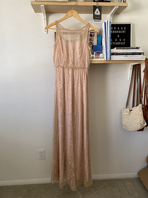 Lace, Embellished Dusty Rose Dress
