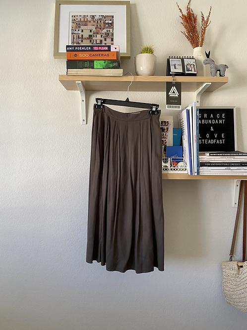 Greenish grey pleated skirt