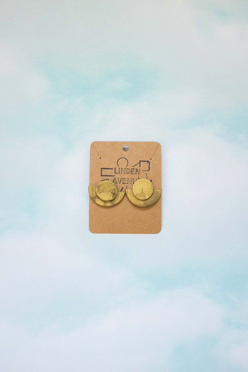 The Crawford Studs in Antique Gold