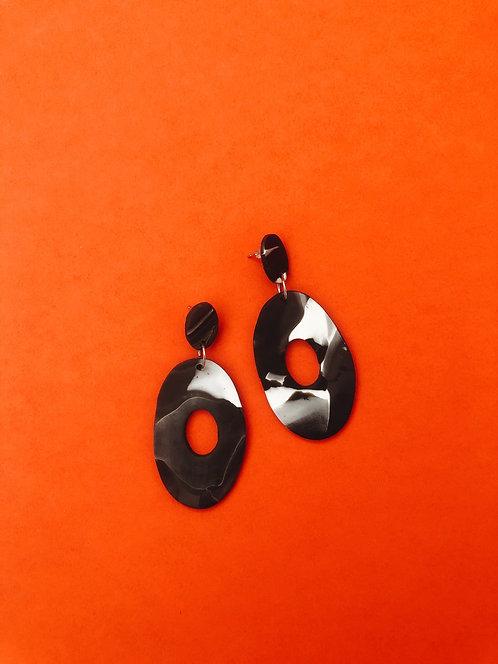 Granite Earrings in BW
