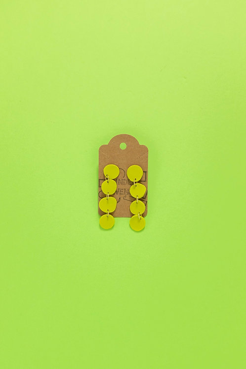 The Pebble Earrings in Lime