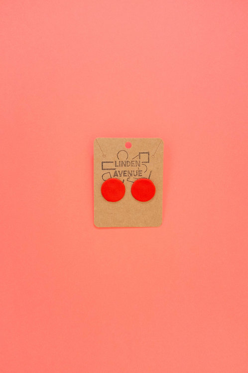 The Ellie Studs in Cherry