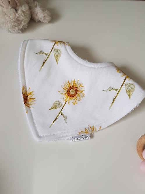 Sunflower Dribble Bib