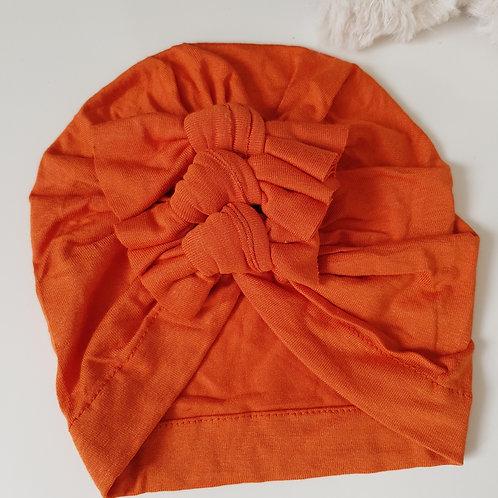 Triple Bow Turban - Orange