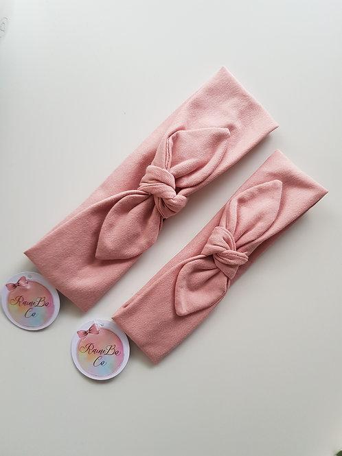 Pre-tied Topknot - Blush