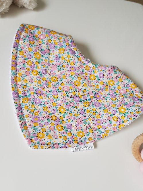 Pastel Floral Dribble Bib