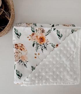 Caramel Rose Minky Blanket