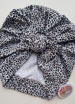 Leopard Square Bow Turban