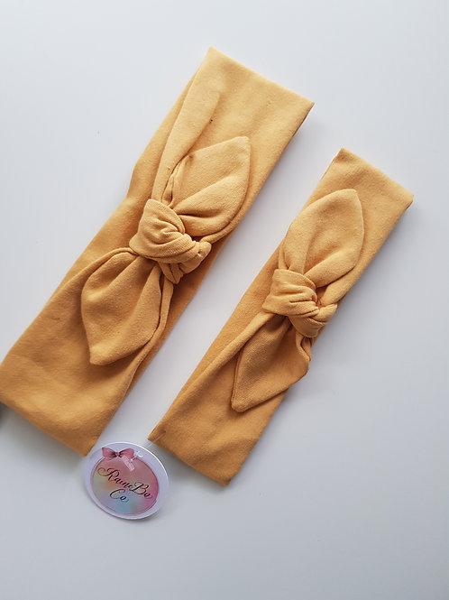 Pre-tied Topknot - Mustard
