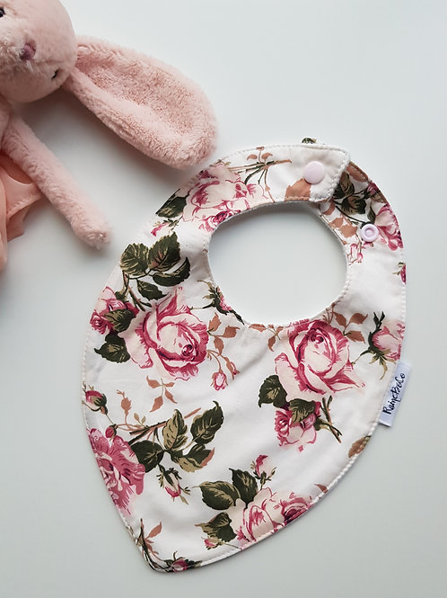 Teardrop Bandana Bib - Roses