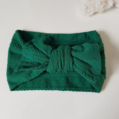 Stretch Bow Headband - Moss