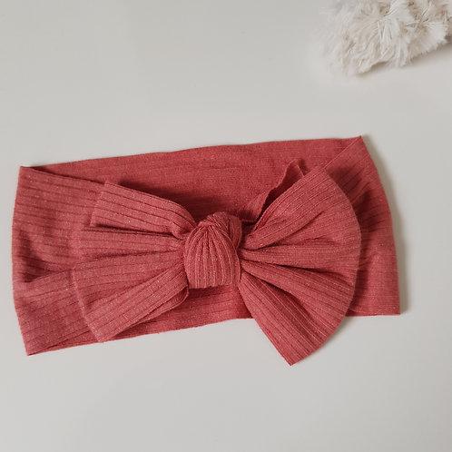 Stretch Bow Headband - Crimson Jersey