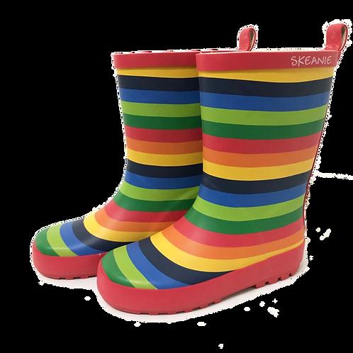 Kids Gumboot - Rainbow Stripe
