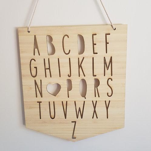 Alphabet Plaque
