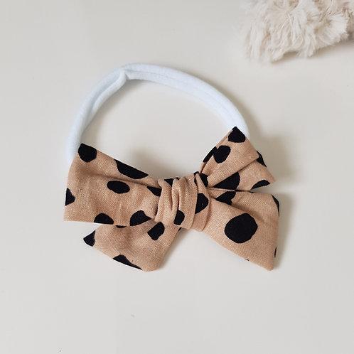 Knotted Bow Headband - Spotty