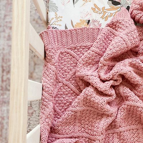 Rose Organic Knitted Blanket