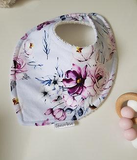 Lilac Floral Dribble Bib