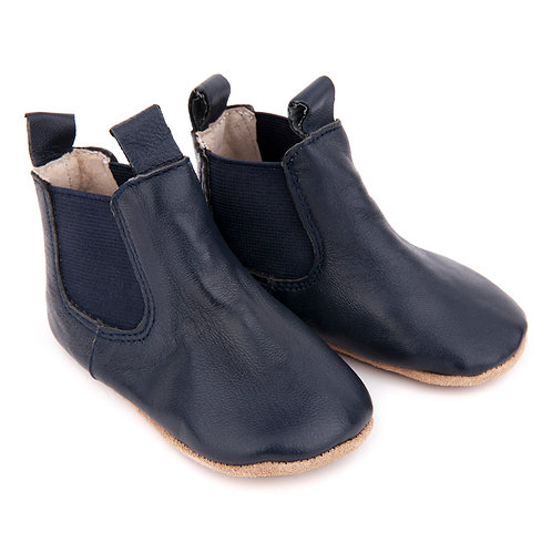 Pre-Walker Leather Boots -Navy