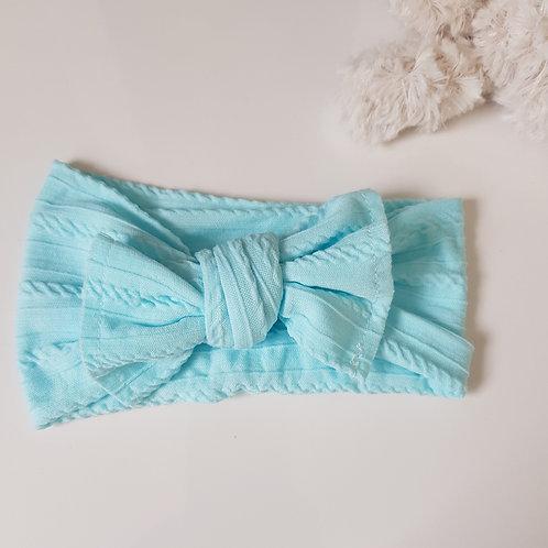 Stretch Bow Headband - Aqua
