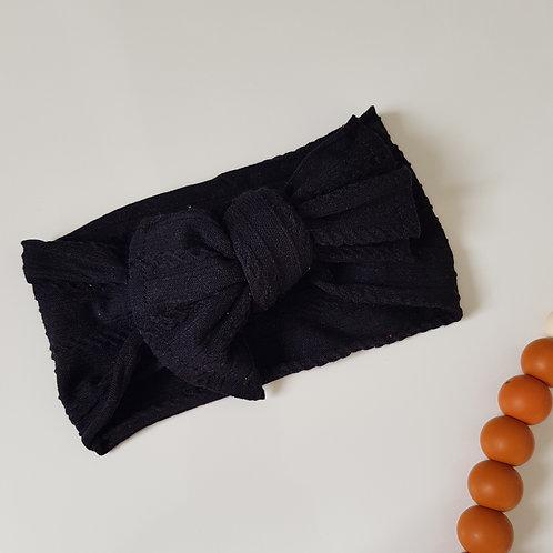 Stretch Bow Headband - Black
