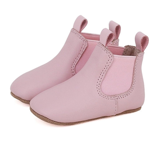 Pre-Walker Leather Boots - Pink
