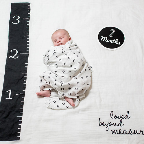 """Lulujo """"Loved Beyond Measure"""" Baby's First Year Blanket and Cards Set"""
