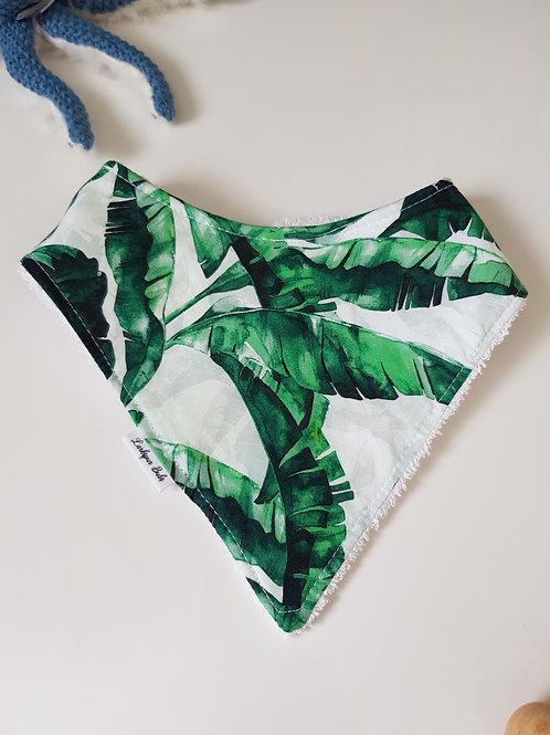 Palm Leaf Bandana Bib