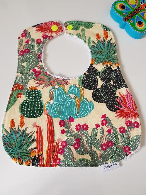 Cactus Succulent Round Bib