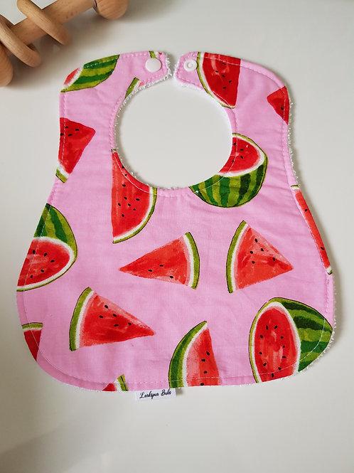 Watermelon Round Bib