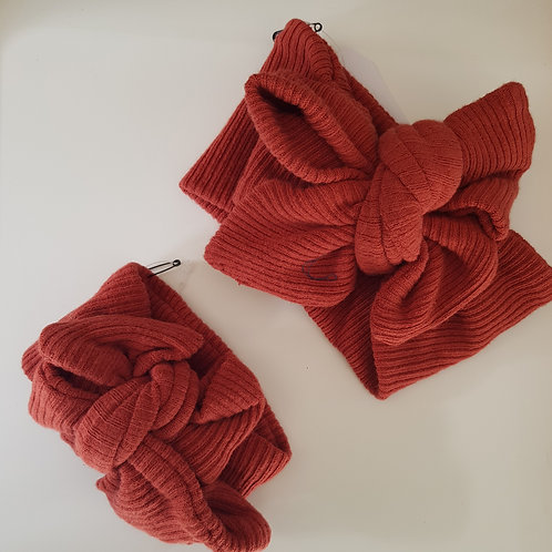 Ribbed Bow - Red