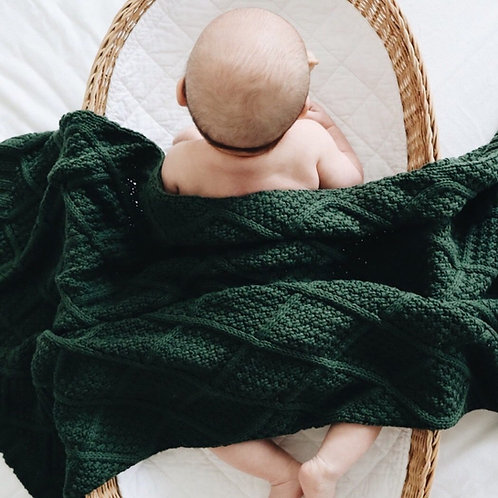 Forest Organic Knitted Blanket