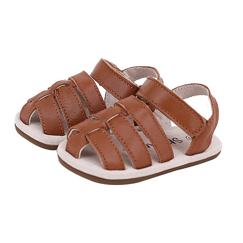 Pre-walker Leather Ziggie Sandals - Tan