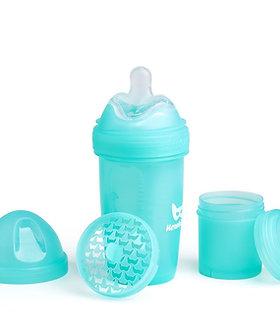 Double Anti-Colic Baby Bottle 240ml - Blue