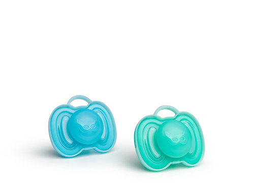 Hero Pacifiers 0+months (2 Pack) - Blue/Turquoise