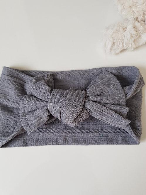 Stretch Bow Headband - Grey