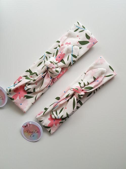 Pre-tied Topknot - Pretty Pinks