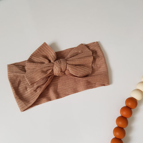 Stretch Bow Headband - Sand Jersey