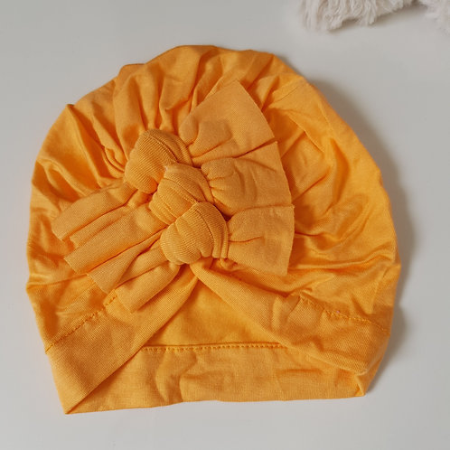 Triple Bow Turban - Yellow