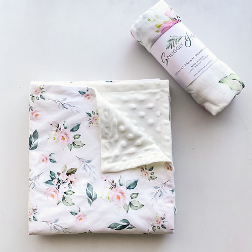 Chloe Floral Minky Blanket